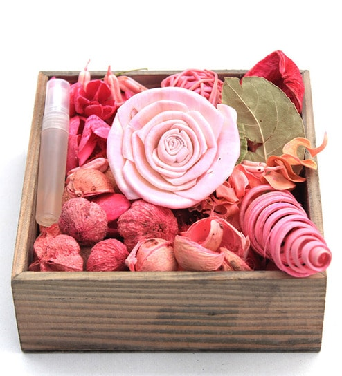 Buy Deco Aro Rose Potpourri Wooden Box Online - Potpourri - Home