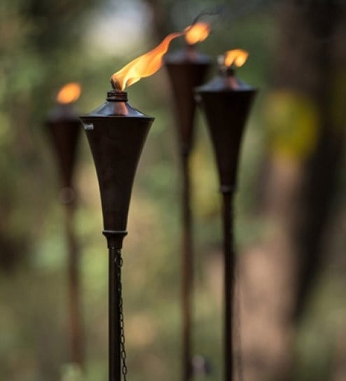Charming Garden Torches Oil Rubbed Set Of 4 (44 Inches Or 60 Inches) By Deco Home