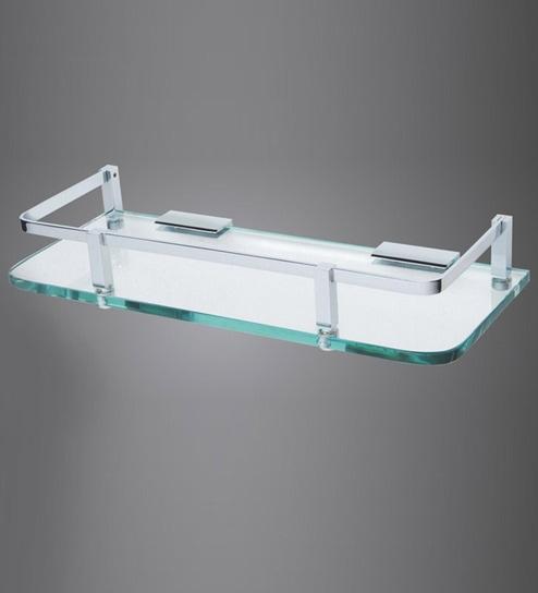 buy decor silver gs003 glass shelf online bathroom shelves bed rh pepperfry com buy glass shelves for cabinets buy glass shelf