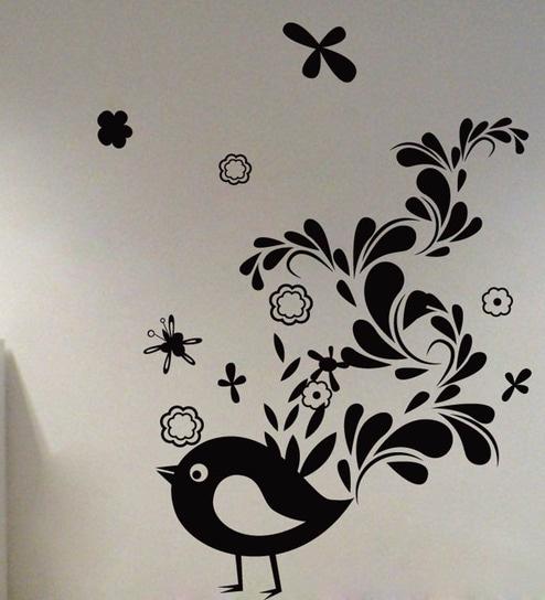 Decor Kafe Creative Sparrow Vinyl Durable Wall Sticker u0026 Decal & Buy Decor Kafe Creative Sparrow Vinyl Durable Wall Sticker u0026 Decal ...
