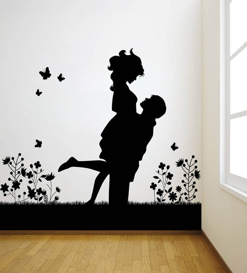Decor Kafe Lovely Couple Vinyl Durable U0026 Wall Sticker U0026 Decal