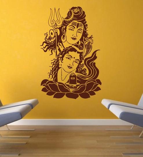 buy decor kafe self adhesive vinyl shiva wall decal online - other