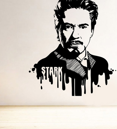 Decor Kafe The Legend Iron Man Black u0026 White Vinyl Wall Sticker u0026 Decal  sc 1 st  Pepperfry & Buy Decor Kafe The Legend Iron Man Black u0026 White Vinyl Wall Sticker ...