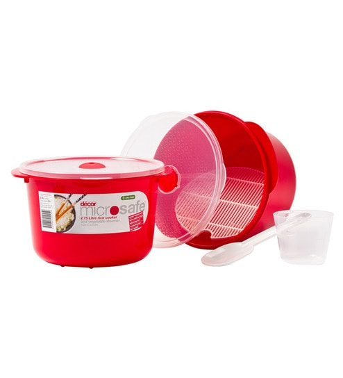 Decor Microsafe Rice Cooker Vegetable Steamer 2750 Ml