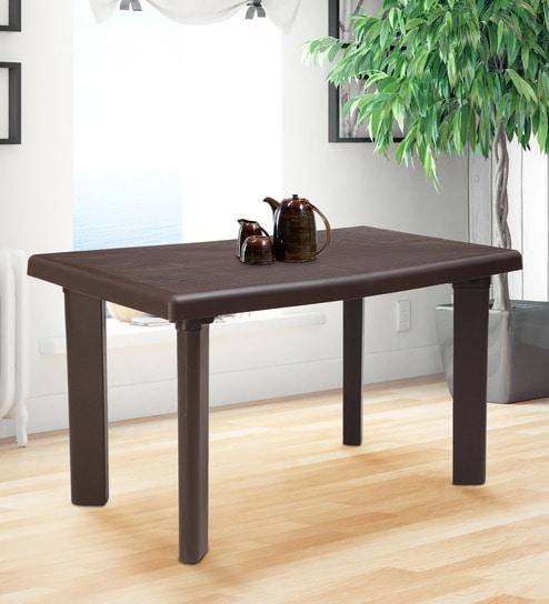 designer fashion da544 1b417 Delta Dining Table in Brown Colour by AVRO