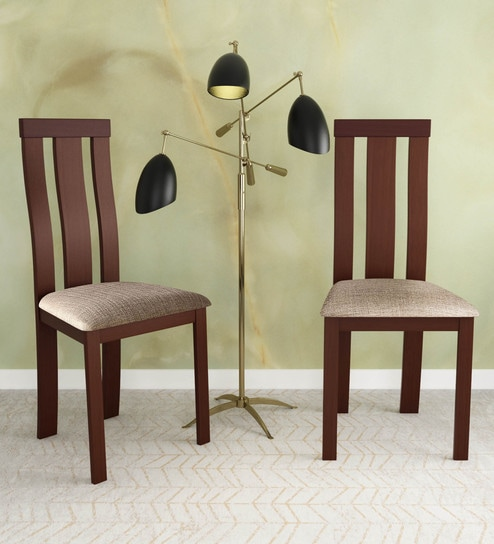 Delton Dining Chair Set Of 2 In Walnut Finish By Hometown
