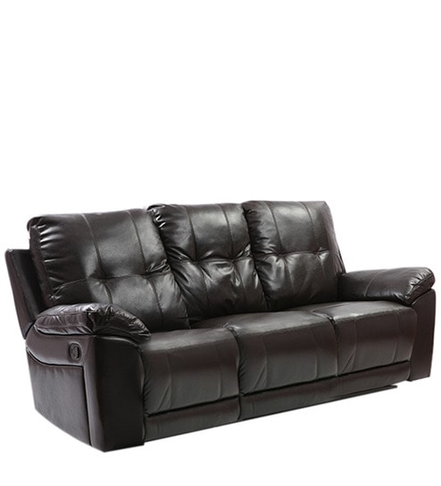 Denver Recliner Three Seater Sofa in Dark Brown Colour by Evok  sc 1 st  Pepperfry : denver recliner - islam-shia.org