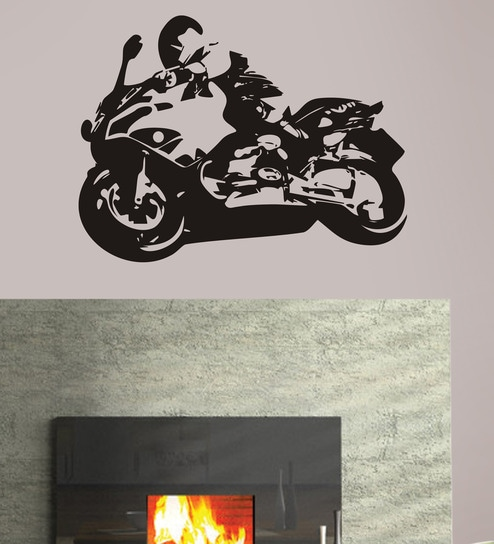 buy design district racing bike vinyl wall decal online - other wall