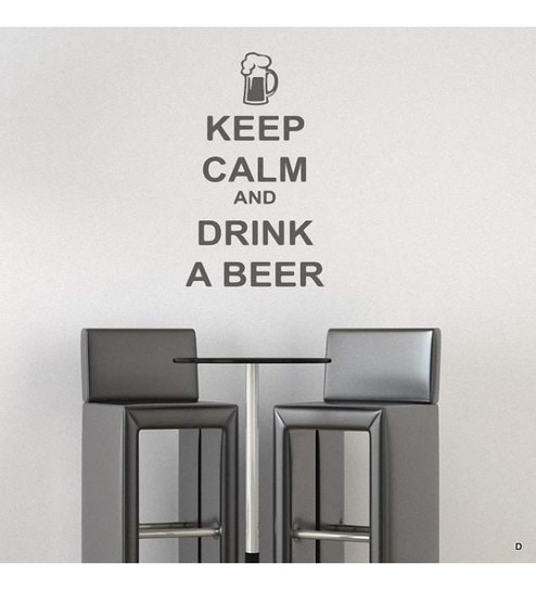 Destudio keep calm and drink a beer wall sticker