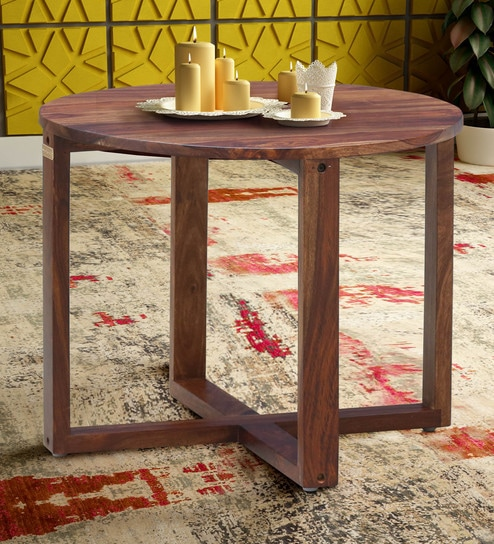 Buy Detroit Solid Wood Coffee Table In Rustic Teak Finish By