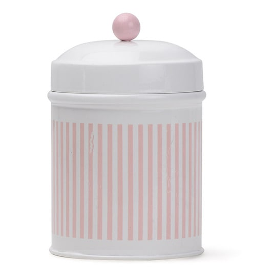 Deziworkz Pink Strips Cookie Jar Set - Set of 2