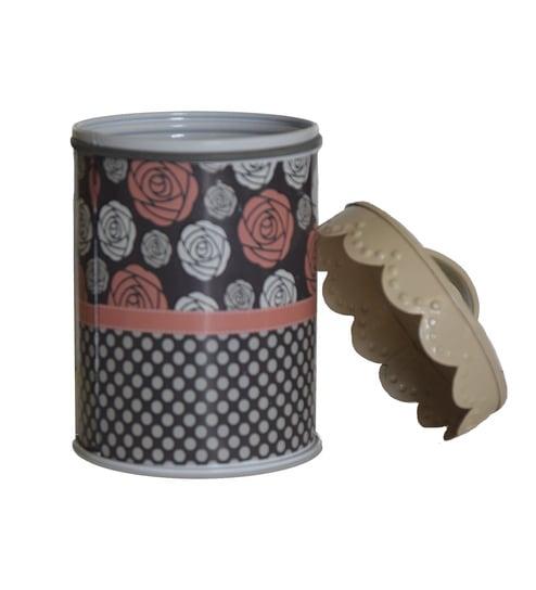 Deziworkz Multicolour Cylindrical Scalop Print floral Kitchen Storage Canister