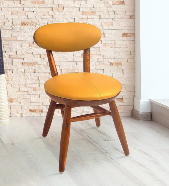 Buy Deen Side Dining Chair In Yellow Colour By Woodmelon Online Uphlostered Side Dining Chairs Dining Furniture Pepperfry Product