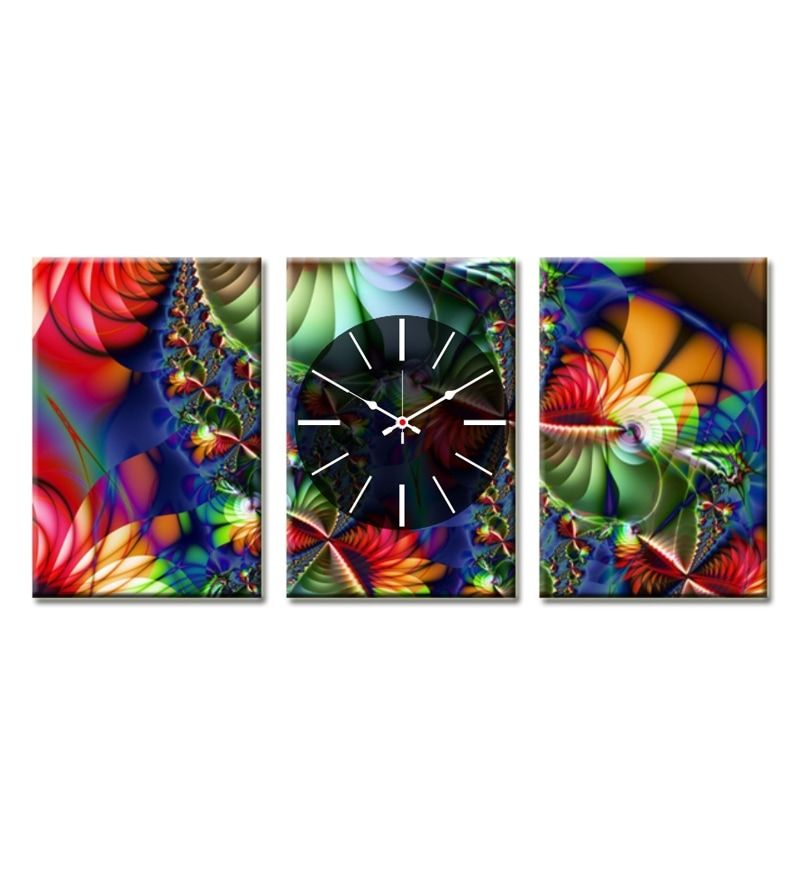 Design O Vista Three Panel Framed Canvas Painting With
