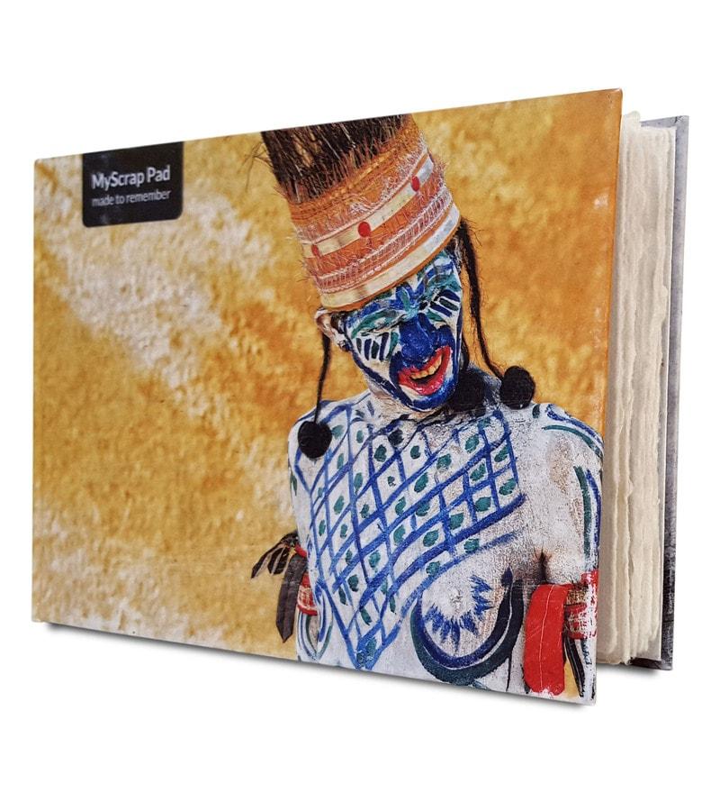 Multicolour Handmade Paper Myscrap Pad Beherupiya Diary by De Kulture Works