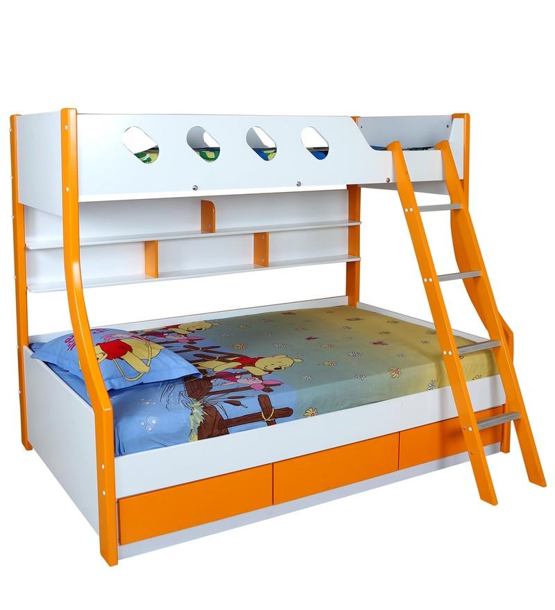 Buy Deccan Bunk Bed In Orange Colour By Hometown Online