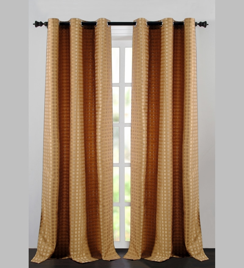 Merigold Jacquard Dot Box 60 x 46 Inch Single Panel Curtain - Set of 2 by Deco Essential