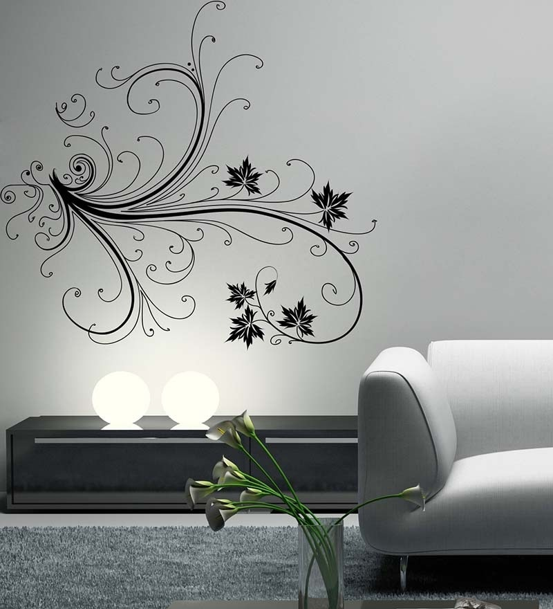 2fbd3674959 Buy Decor Kafe Floral Branch Vinyl Durable Wall Sticker   Decal ...