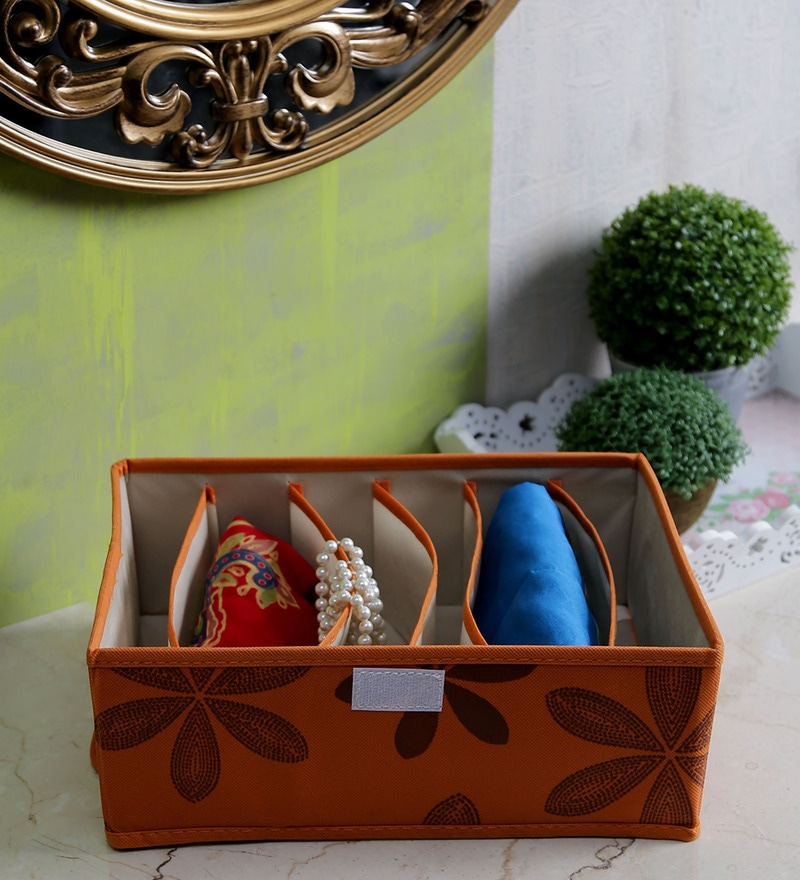 Canvas Orange Clothes Organiser by Decorika