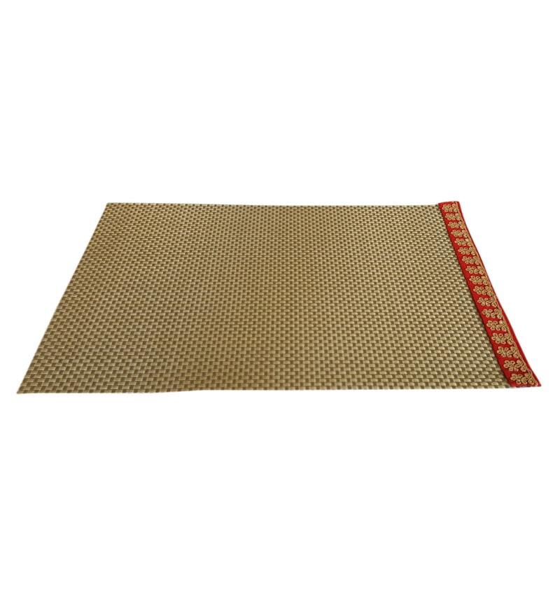 Decorika Lace Border Gold PVC Placemats - Set of 4