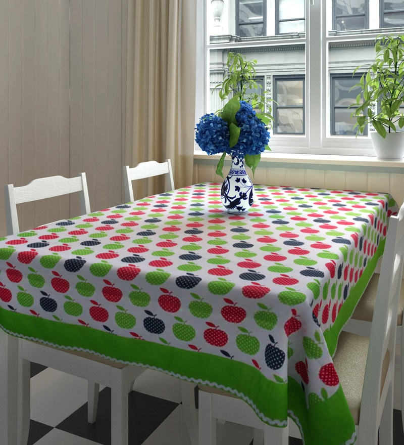 Decotrend Apples Multicolour 100% Cotton Table Cloth with Border