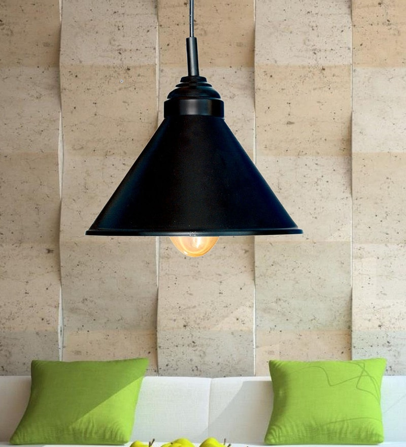 Black Iron Pendant by Design Villa