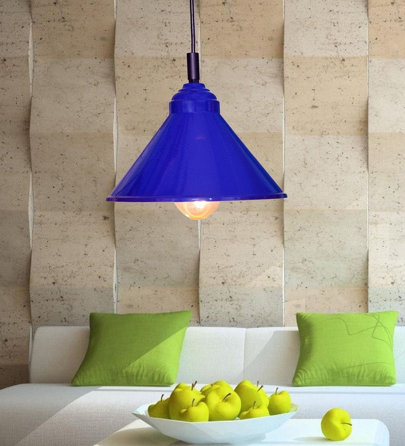 Blue Iron Plain Pendant by Design Villa