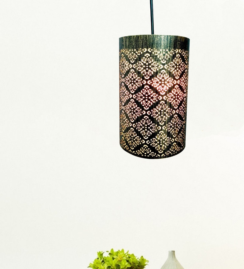 Gold Iron Pendant by Design Villa