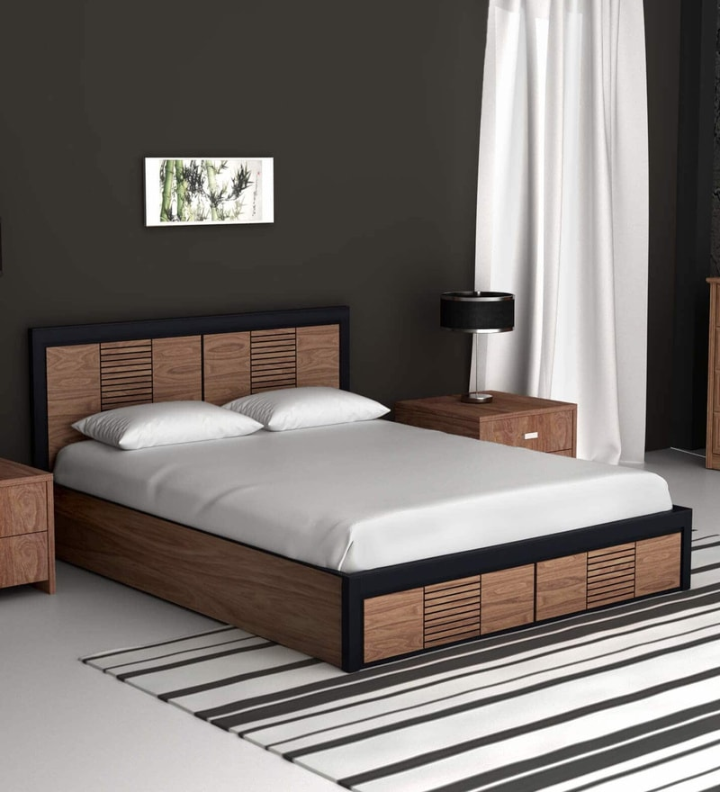 Box Bedroom Furniture Ideas: Buy Deux Solid Wood Queen Size Bed With Box Storage In