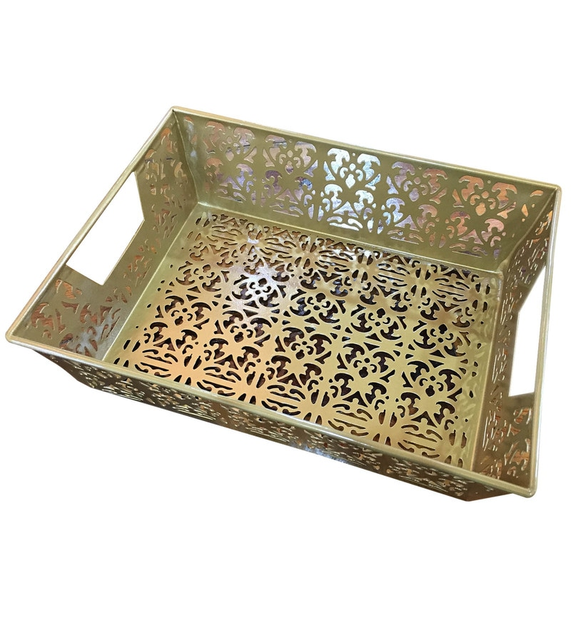 Deziworkz Metal Gold Tray