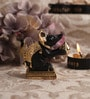 Decardo Black & Gold Terracotta Mini Modak Rat Statue