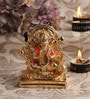 Decardo Gold & Orange Terracotta Small Panchmukh Hanuman Statue