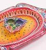 Decardo Multicolour Clay Fancy Diwali Thali