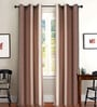 Purple Polyester 46 x 90 Inch Jacquard Eyelet Door Curtain - Set of 2 by Deco Essential