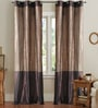Brown Polyester 42 x 90 Inch Door Curtain - Set of 2 by Deco Window
