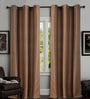 Brown Polyester 46 x 90 Inch Door Curtain - Set of 2 by Deco Window