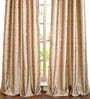 Deco Window Dark Beige Polyester 50 x 96 Inch Door Curtain - Set Of 2