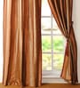 Deco Window Dark Terracotta Polyester 50 x 96 Inch Door Curtain - Set of 2