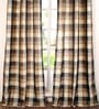 Grey Polyester 42 x 96 Inch Door Curtain - Set of 2 by Deco Window
