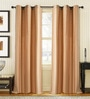 Deco Window Light Beige Polyester 46 x 90 Inch Door Curtain - Set of 2