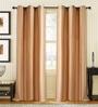 Light Beige Polyester 46 x 90 Inch Door Curtain - Set of 2 by Deco Window