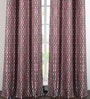 Multicolour Polyester 46 x 90 Inch Door Curtain - Set of 2 by Deco Window