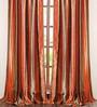 Deco Window Terracotta Polyester 42 x 96 Inch Door Curtain - Set of 2