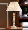 Natural Cotton Table Lamp by The Decor Mart