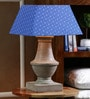 The Decor Mart Blue Cotton Table Lamp