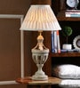 Natural Linen Table Lamp by The Decor Mart
