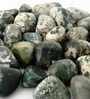 Green & White Stone Pebbles - 1 Kg by Decor Pebbles