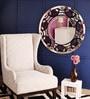 Renaissance Mirrors Purple MDF Semicircle Design Decorative Mirror