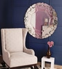 Renaissance Mirrors Multicolour MDF Leaf Design Border Decorative Mirror