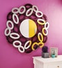 Renaissance Mirrors Purple MDF Oval Abstract Border Decorative Mirror